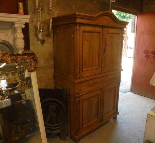 Antique Pine Linen Cupboard
