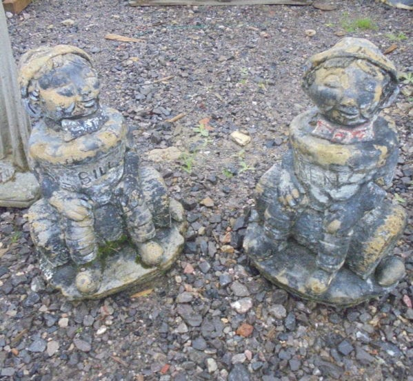 Small Reclaimed Stone Statue- two available