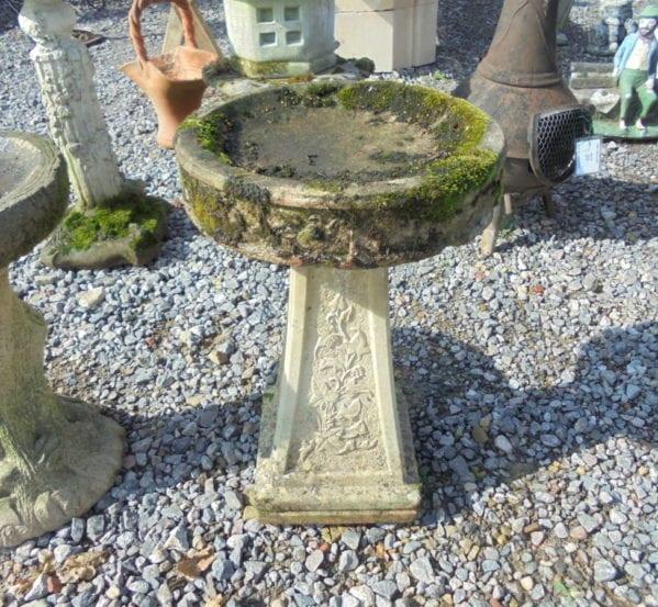 Reclaimed Stone Decorative Bird Bath