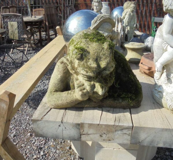 Reclaimed Stone Decorative Thinking Devil