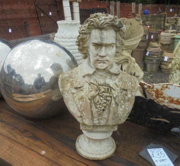 Reclaimed Stone Head Statue