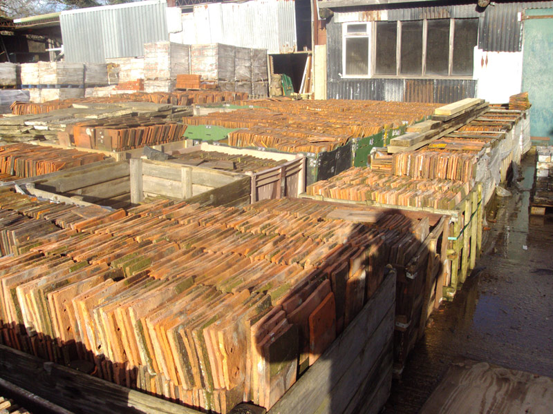 Sussex And Kent Peg Tiles At Reclamation Yard In Sussex