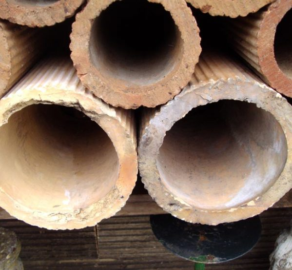 Reclaimed Large Clay Pipes