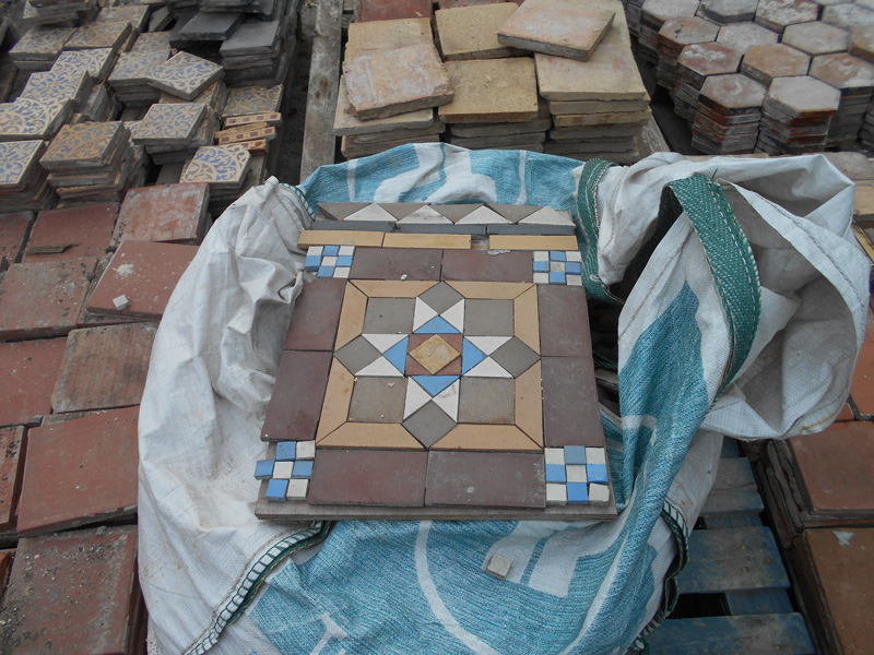 reclaimed mosaic floor tiles
