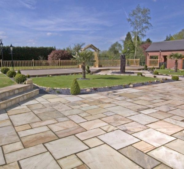 Fossil Buff Sandstone Paving
