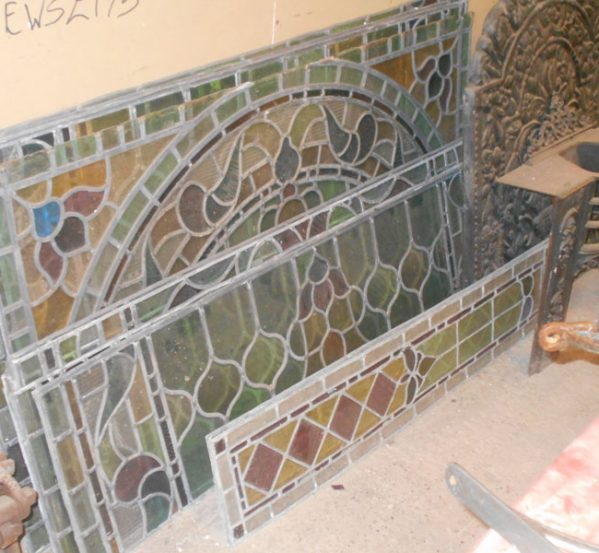 Reclaimed Stained Glass Leaded Windows