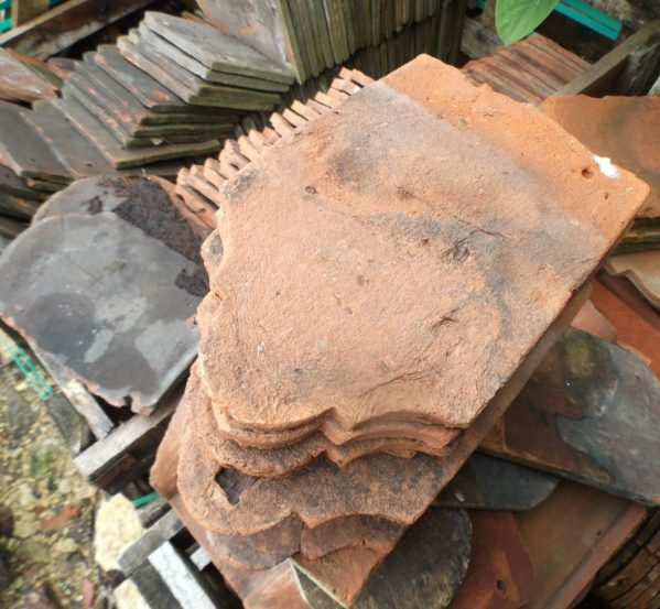 reclaimed ornamental Heathfield Hangers roof tiles