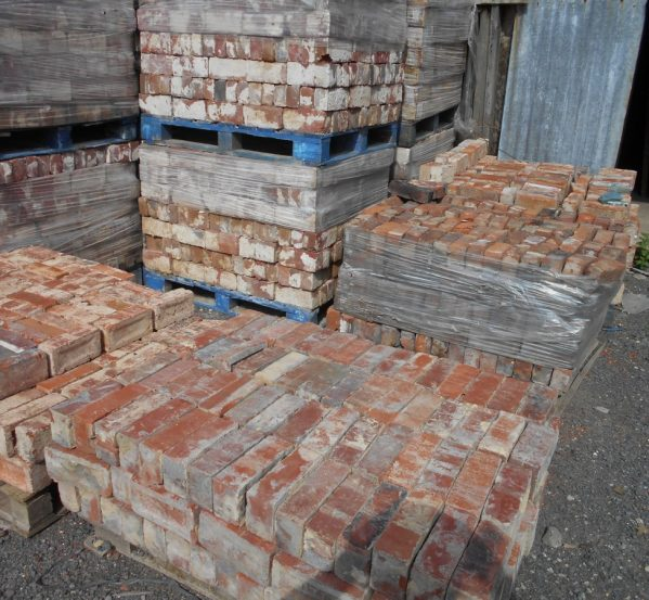reclaimed pressed clay bricks