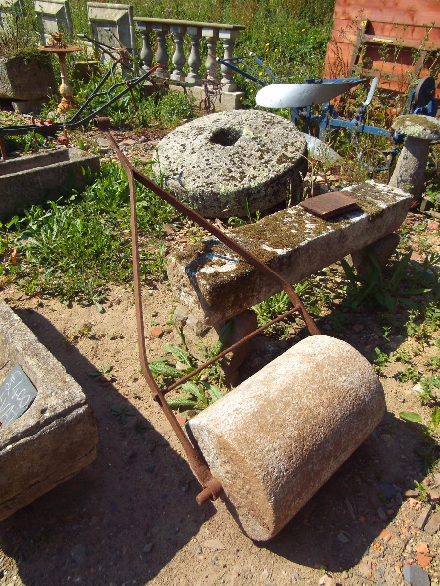 Stone Roller Reclaimed From A Garden In Bodmin Authentic
