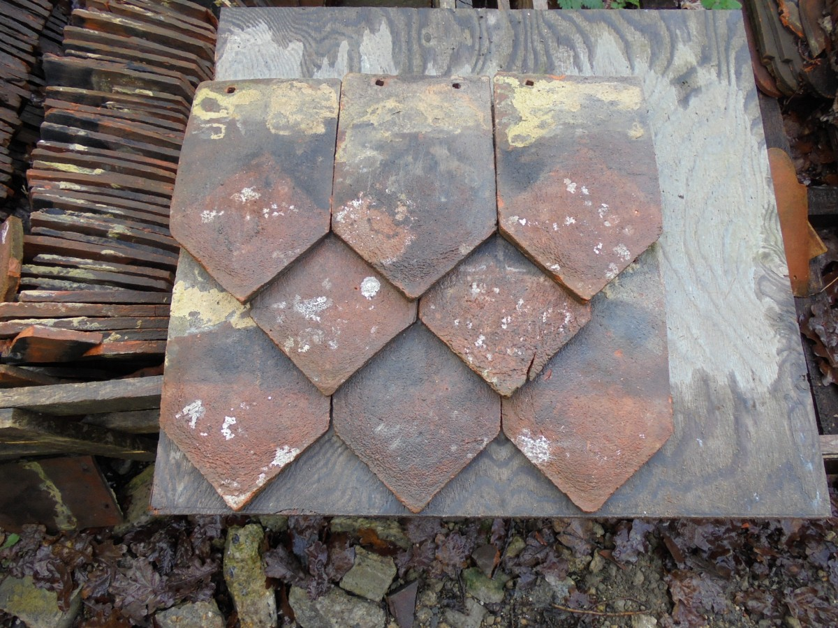 Reclaimed Arrow Head Ornamental Hanging Tiles Authentic