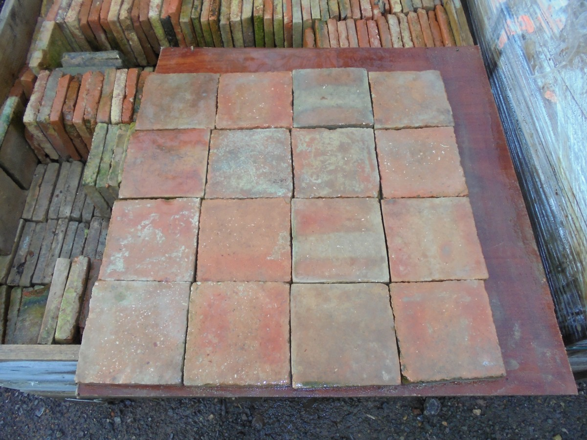 Salvaged hand made french floor tiles authentic reclamation a salvaged french hand made floor tile dailygadgetfo Images