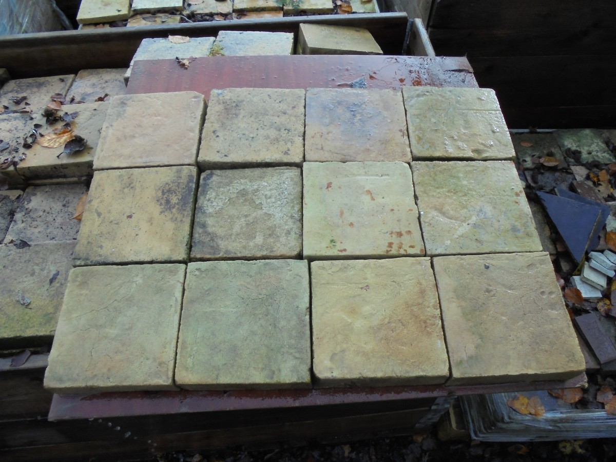 Salvaged Buff Coloured Floor Tile Authentic Reclamation