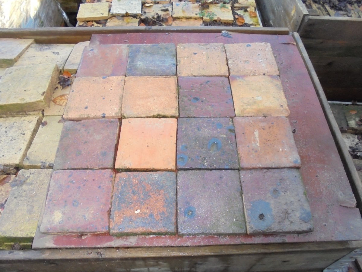 Reclaimed french dark floor tiles authentic reclamation a reclaimed dark french floor tile dailygadgetfo Choice Image