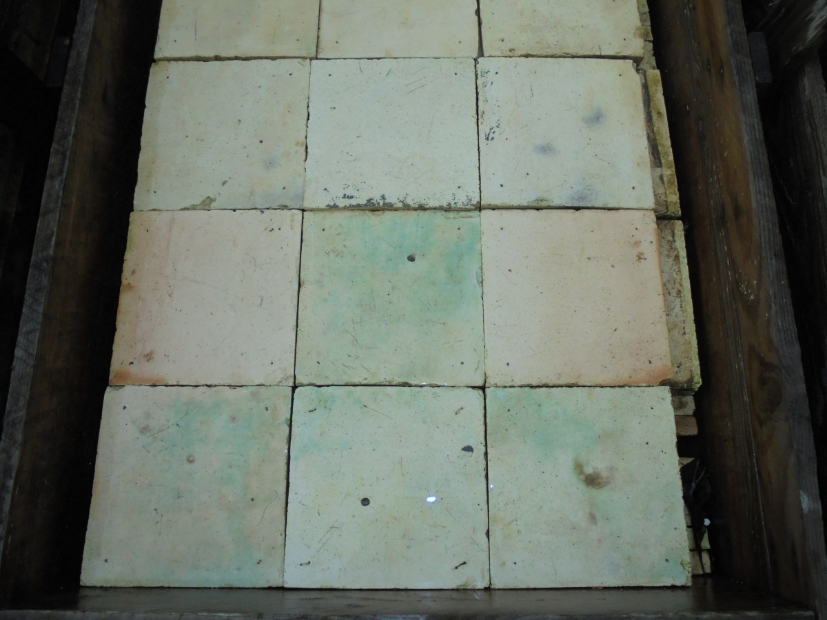 Reclaimed Buff Coloured French Floor Tiles Authentic Reclamation
