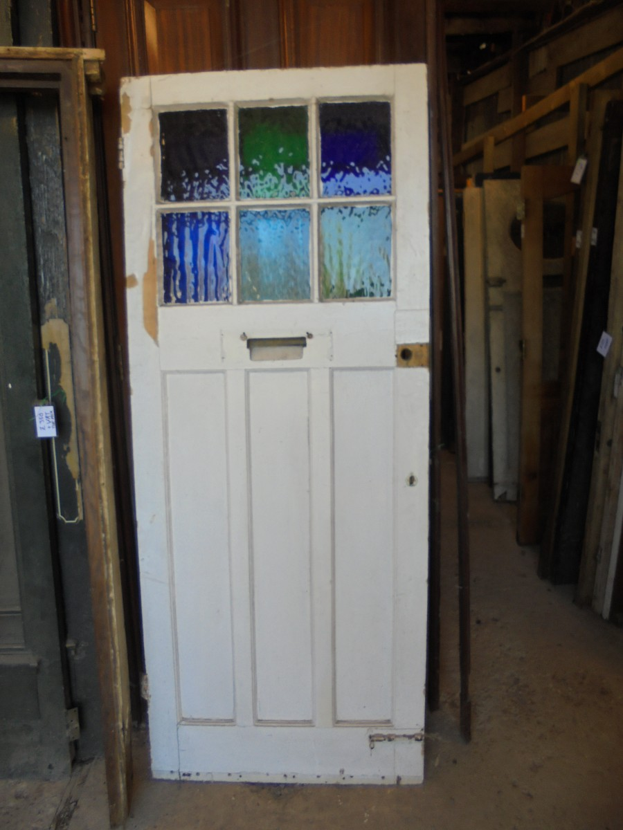 A Coloured Glass Front Door Authentic Reclamation