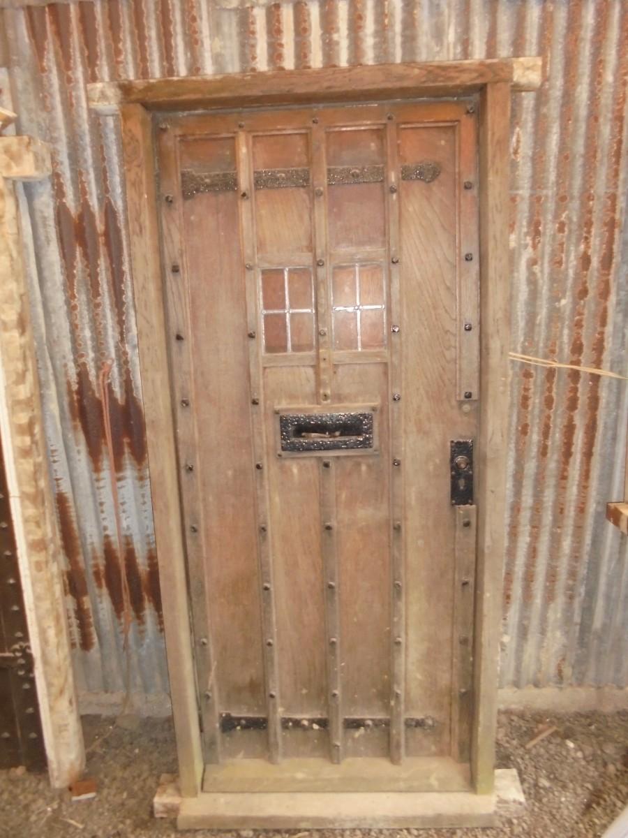 Studded Oak Front Door Authentic Reclamation