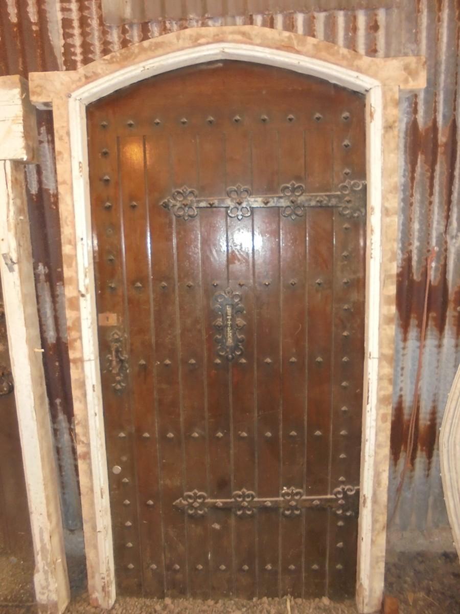 Decorative Studded Oak Front Door Authentic Reclamation