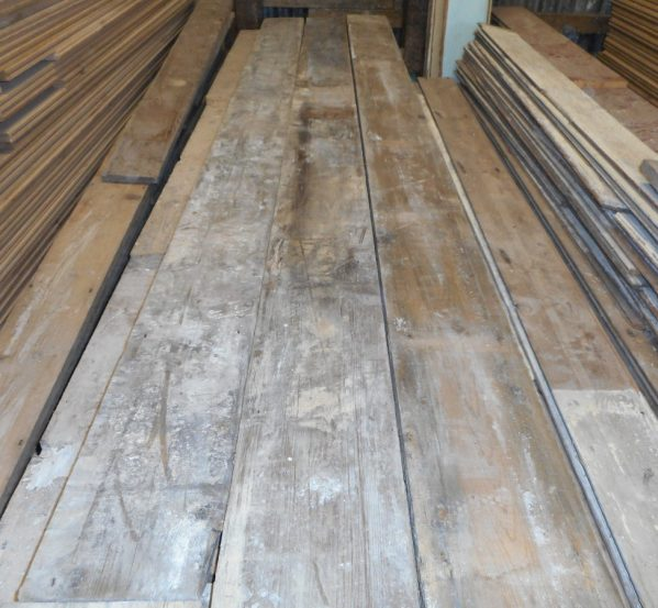 salvaged pine flooring