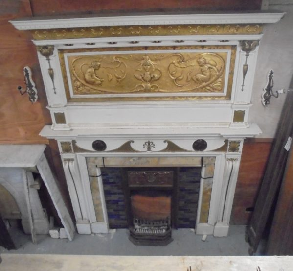 reclaimed Art Nouveau / Art Deco fireplace