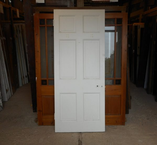 6 panelled white reclaimed door