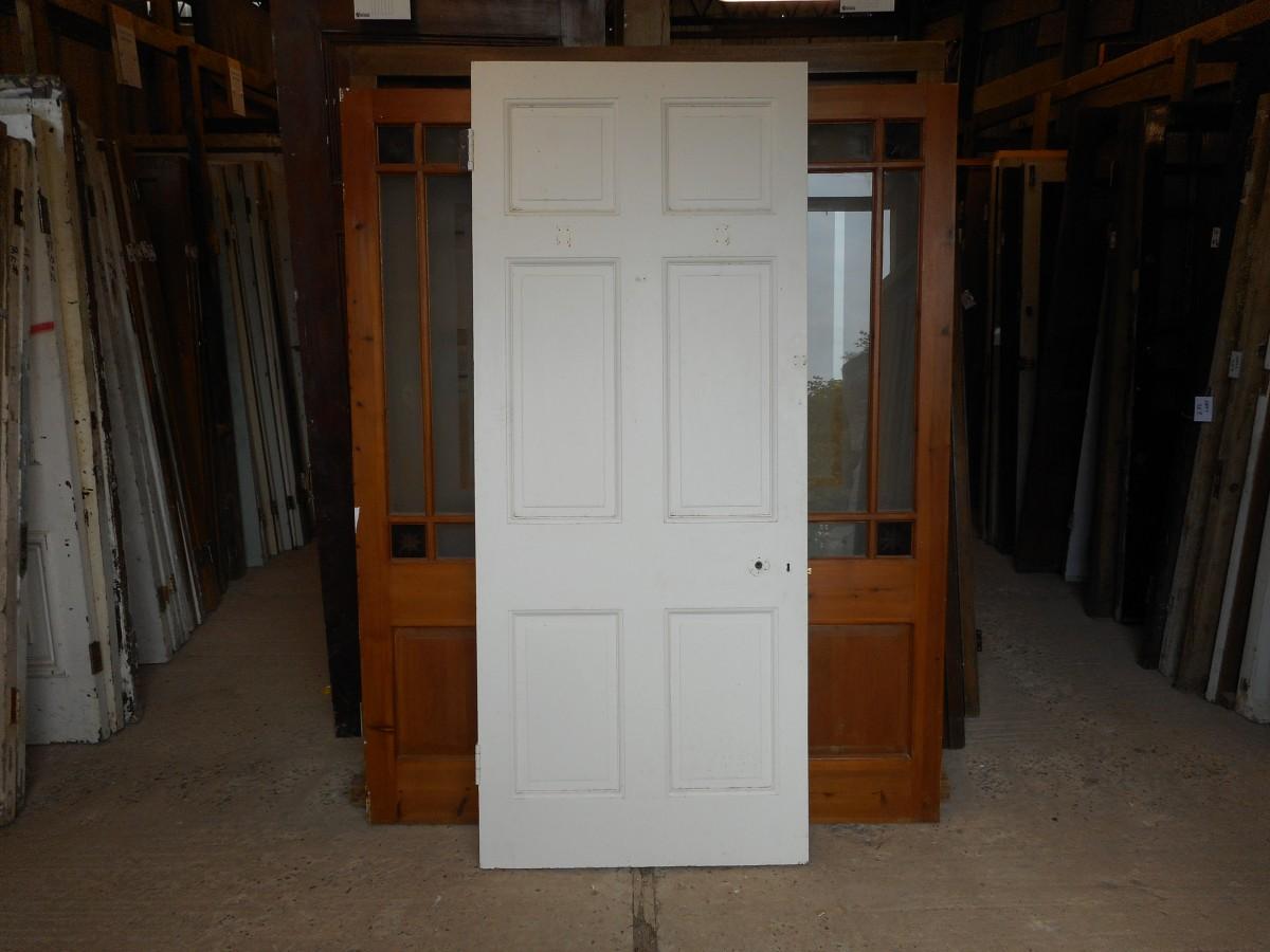 6 panelled white reclaimed door