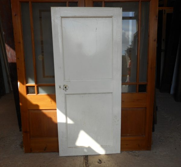 White Georgian 2 panelled door