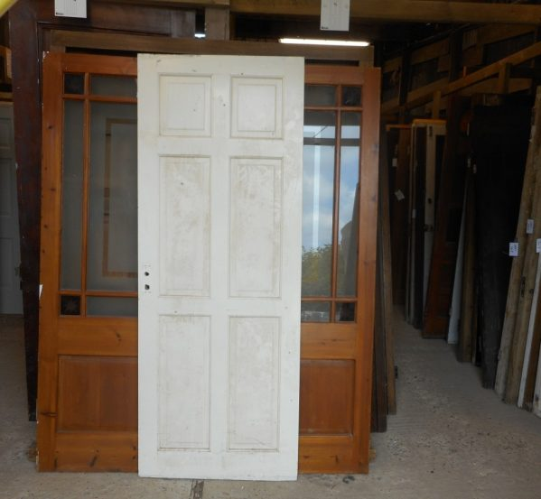 reclaimed white 6 panel door