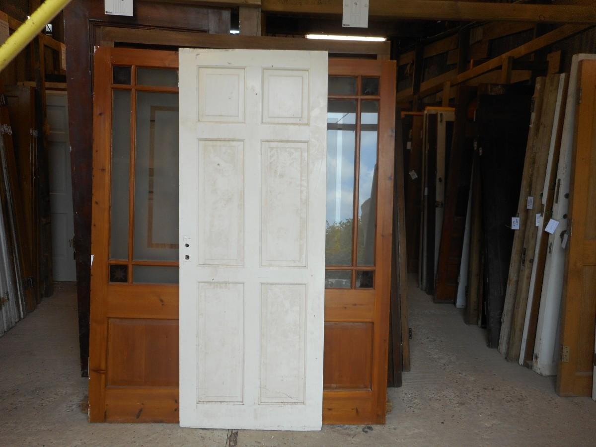reclaimed white 6 panel door