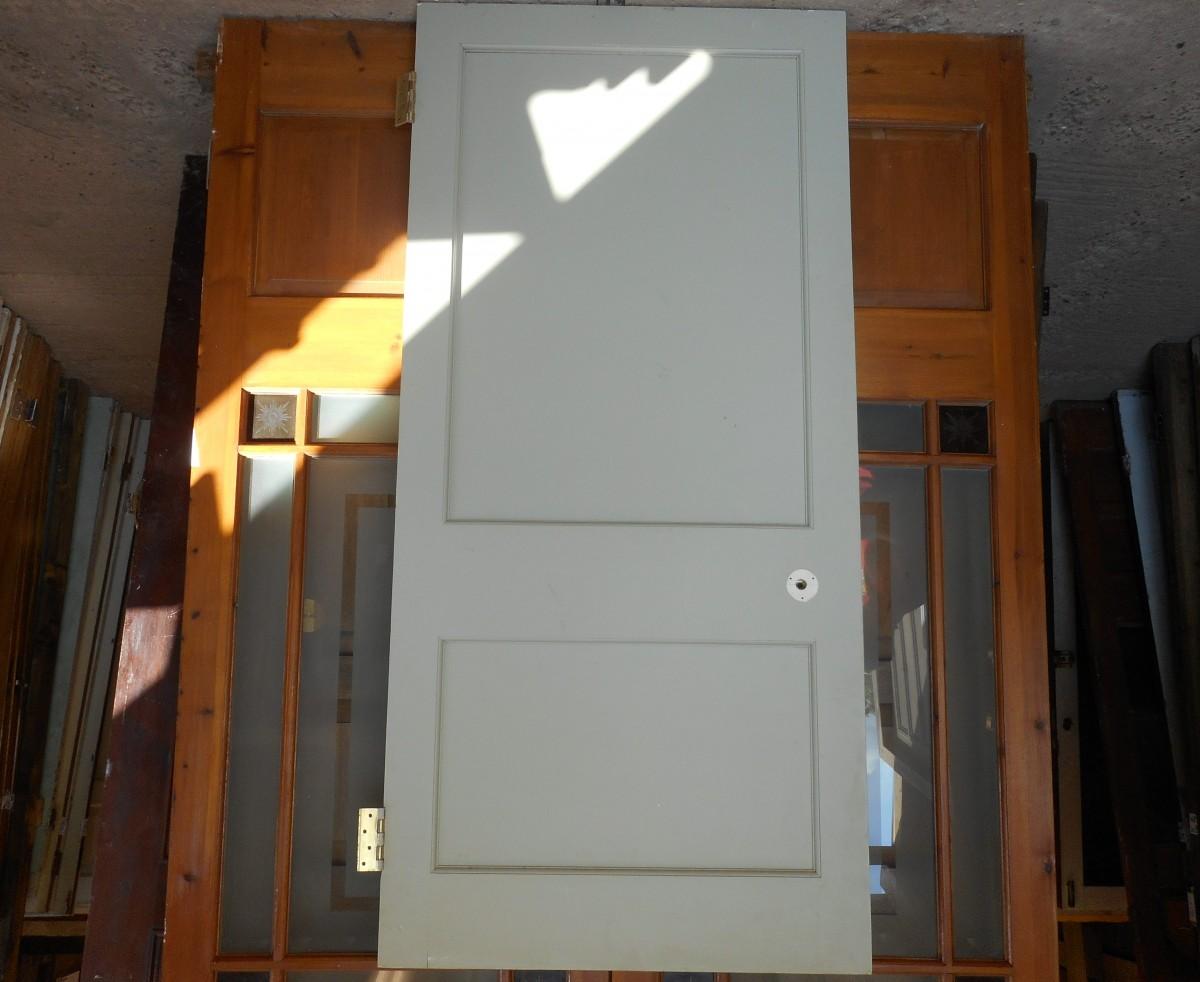 white Georgian 2 panel door