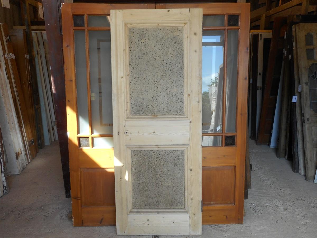 2 panel wooden reclaimed door