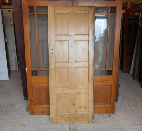 8 panel reclaimed wooden door