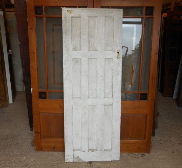 White reclaimed 9 panel door