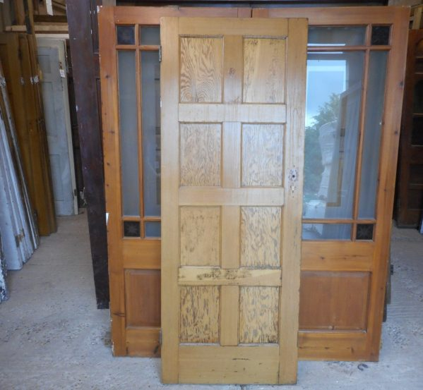 8 panelled wooden door