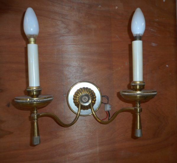 brass hall light