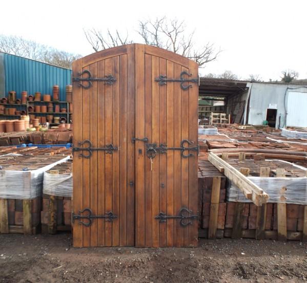 Reclaimed Mahogany and Oak Doors
