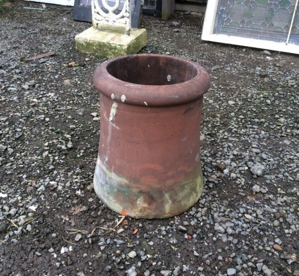 short red cannon chimney pot