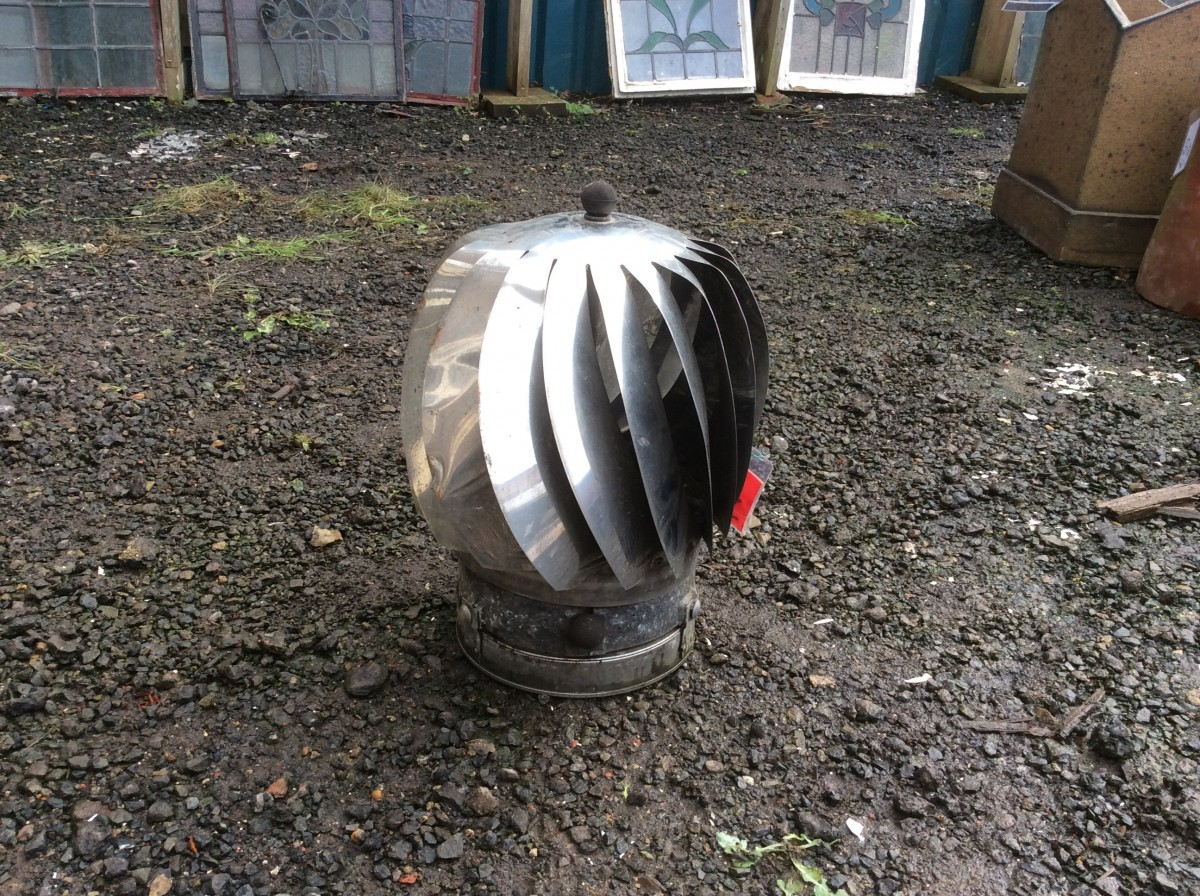 Reclaimed rotating chimney cowl