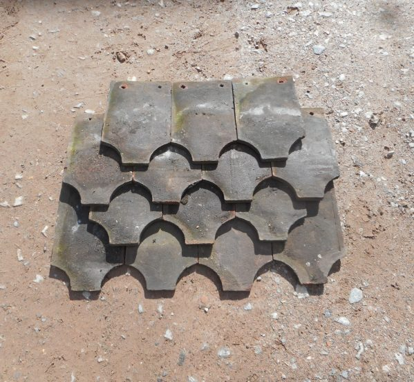 RECLAIMED ORNAMENTAL HANDMADE FISH TAIL TILE