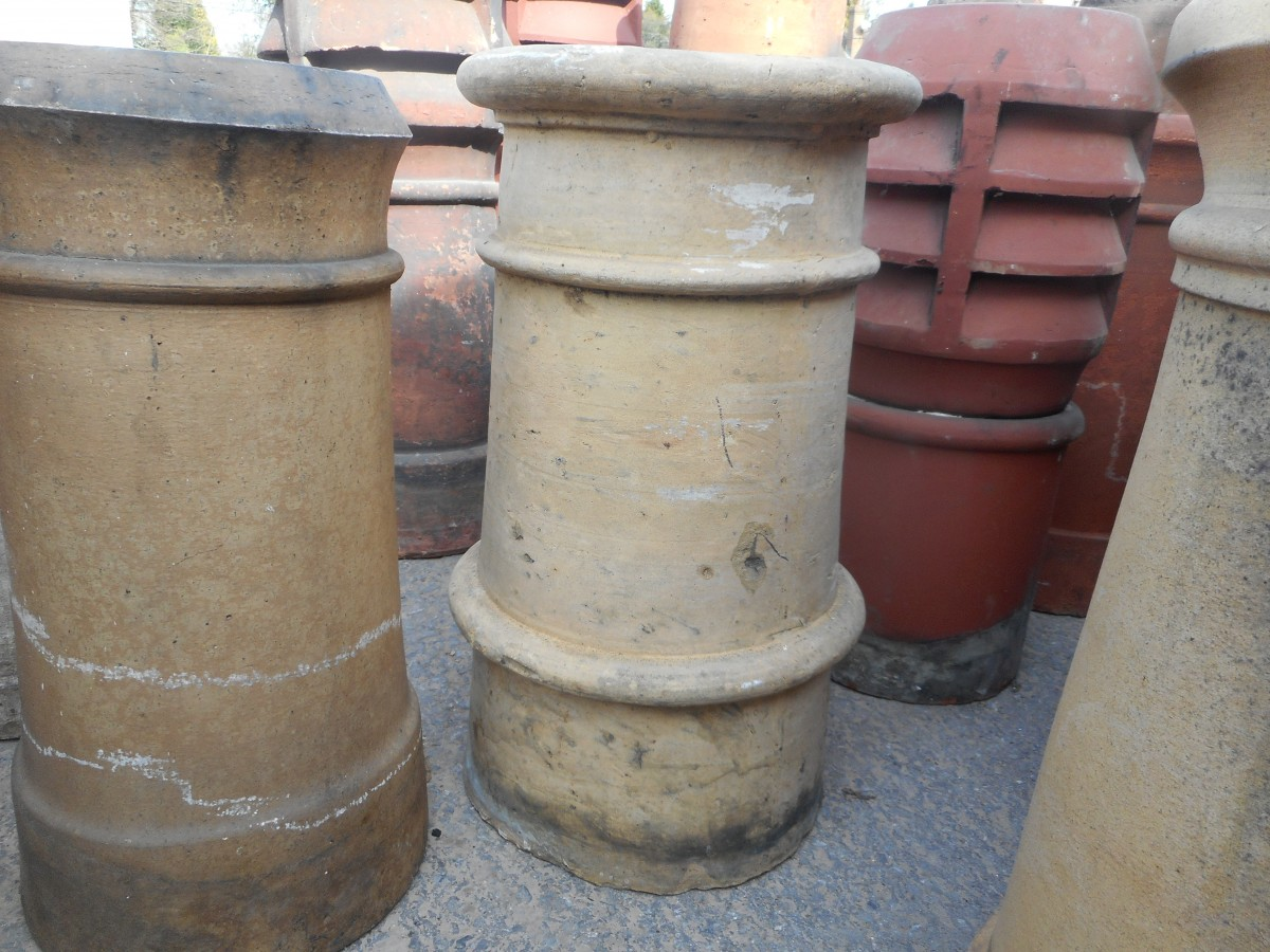 Reclaimed Buff Chimney Pot Authentic Reclamation