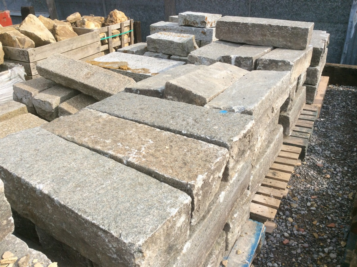 Thick salvaged granite kerbs authentic reclamation for How thick is granite
