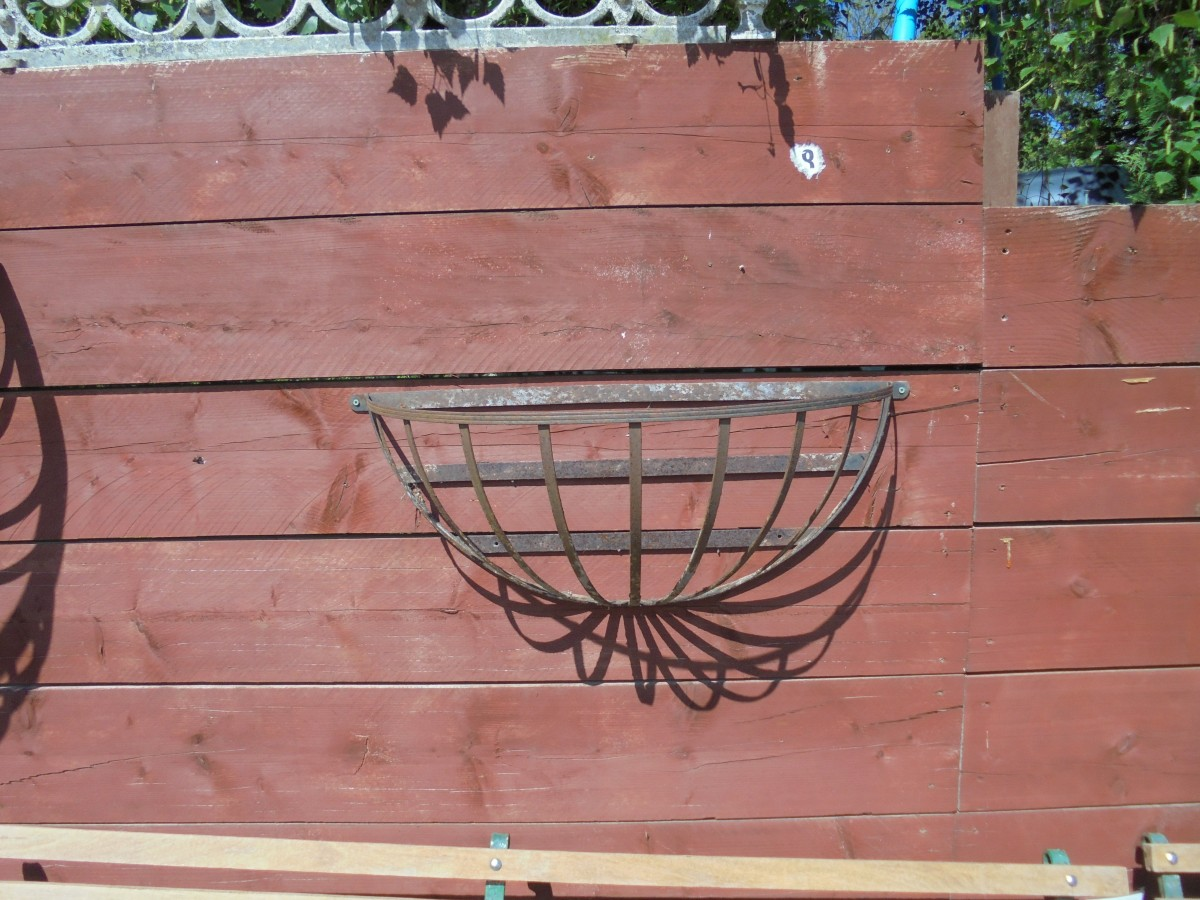 Cast Iron Wall Mounted Planter Authentic Reclamation