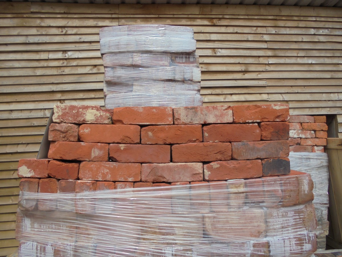 handmade knock-about red bricks