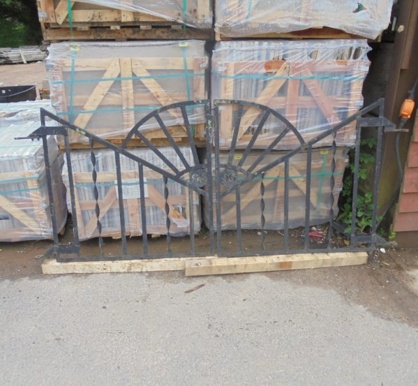 Double Art Deco Sunburst Gates