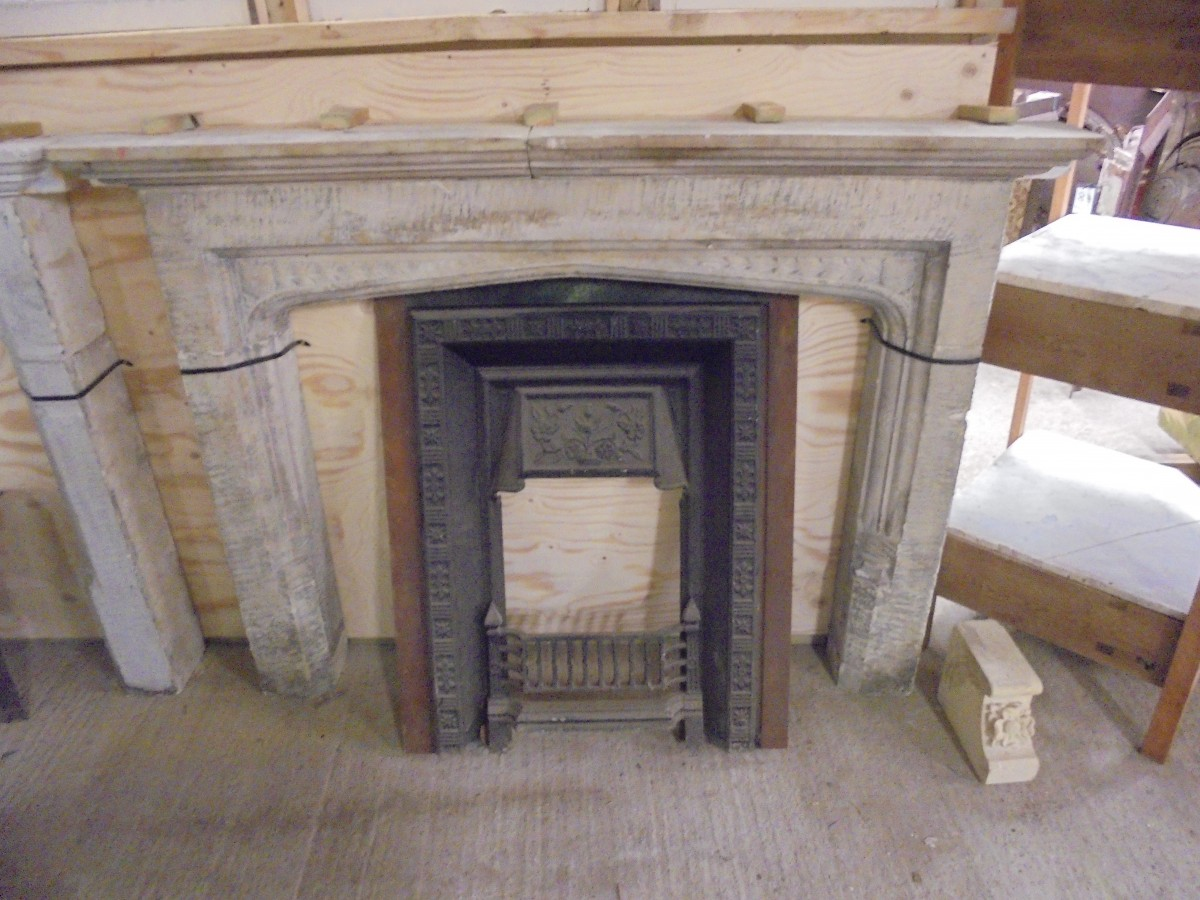 Stone Fire Surround Authentic Reclamation
