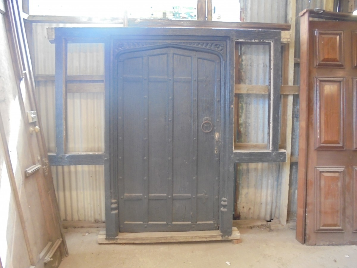 Sold Sold & Tudor sytle Oak door with frame - Authentic Reclamation
