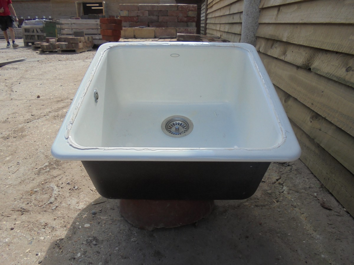 A reclaimed square cast iron sink - Authentic Reclamation