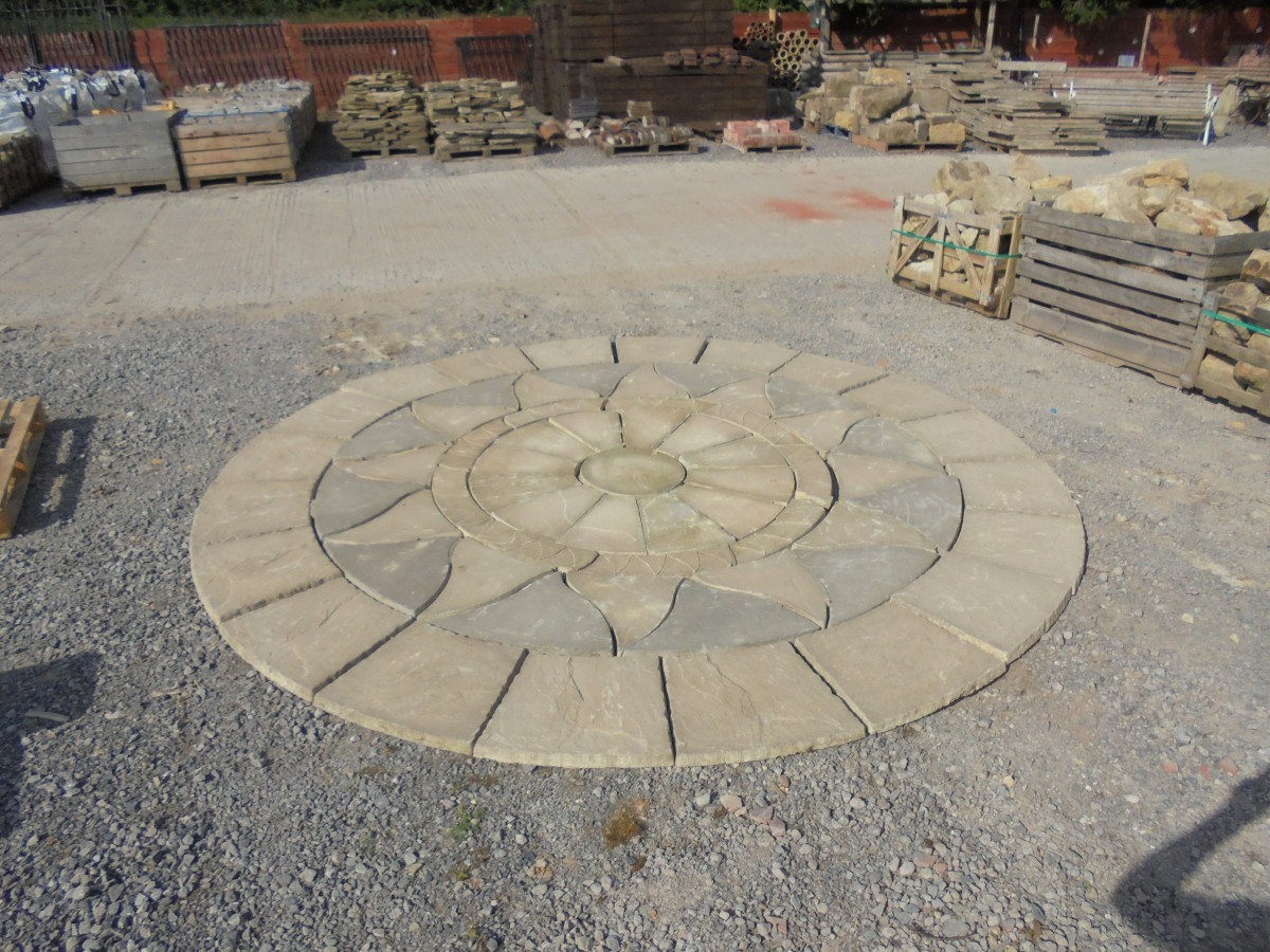 Concrete Patio Circle Authentic Reclamation