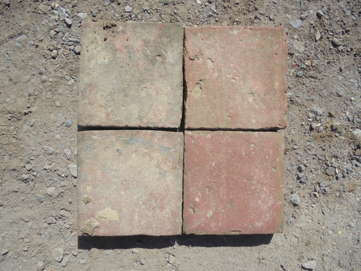 A Small Batch Of Reclaimed 8 X Quarry Tiles