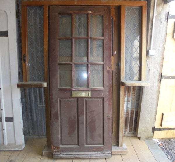 half glazed front door authentic reclamation