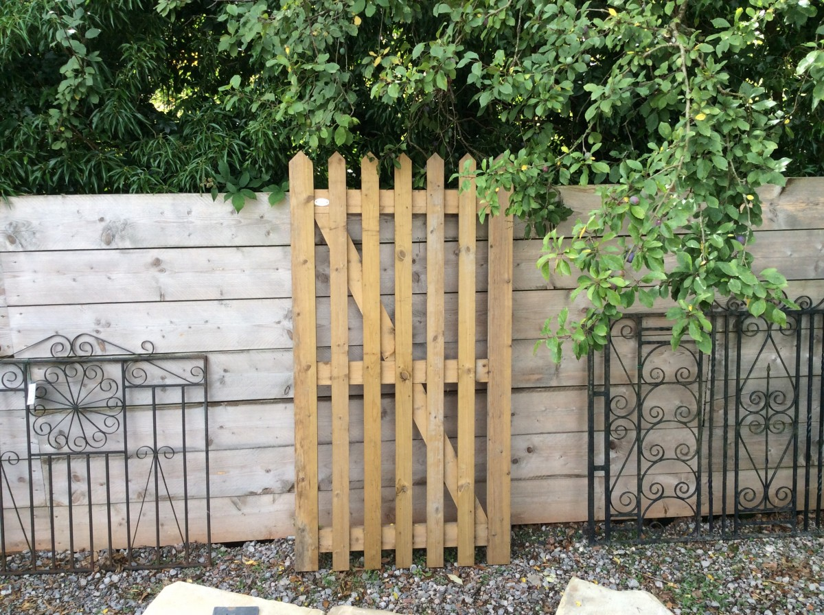 Tall Wooden Gate Authentic Reclamation